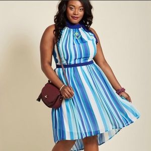MODCLOTH HIGH LOW HALTER DRESS